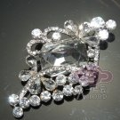RHOMBUS VINTAGE STYLE WEDDING RHINESTONE CRYSTAL DRESS SWEATER GUARD BROOCH PIN