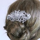 Large Grand Bling Vintage Style Rhinestone Crystal Wedding Bridal Hair Comb -CA