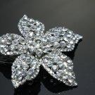 Simple Lovely Five Petals Flower Rhinestone Crystal Wedding Bridal Hair Comb -CA