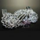 Art Deco Motif Bridal Wedding Brides Silver Rhinestone Crystal Hair Comb -CA