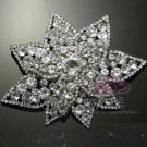 "4"" Large Double Layer Star Rhinestone Crystal Wedding Bridal Dress Brooch Pin"
