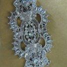 BRIDAL WEDDING DRESS GOWN BUCKLE RHINESTONE CRYSTAL BELT PENDANT CHARM APPLIQUÉ