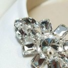 A Pair of Rhombus Eye Rhinestone Crystal Wedding Bridal Buckle Shoe Clips