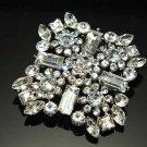 Bridal Wedding Clear Rhinestone Crystal Cake Dress Sash Craft Brooch Pin