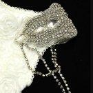 Groom Bride Wedding Shoulder Rhinestone Necklace Epailettes Pin/ Applique