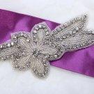 """5.2"""" Cute Meteor Star Rhinestone Crystal Beaded Wedding Bridal Dress Applique"""