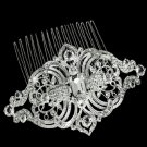 Wedding Bridal Vintage Victorian Style Rhombus Rhinestone Crystal Hair Comb -CA