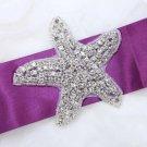 Lot of 3 Cute Beach Starfish Sea Star Rhinestone Beaded Wedding Shoes Applique