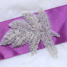 Lot Of 3 Leaves Leaf Hair Head Acrylic Beaded Wedding Sash Craft Applique DIY
