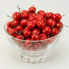 60 - 63pc Simulation Fruit Plastic Red Cherries Home Hotel Restaurant Decoration