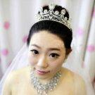Wedding Bridal Rhinestone Crystal Princess Poem Tiara Headpiece Forehead Crown
