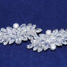A Pair Of Rhombus Rhinestone Crystal Wedding Bridal Shoe Clips -CA