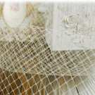 HANDMADE WEDDING BRIDAL CRAFT - BRIDCAGE WHITE VEIL MATERIAL NET DIY