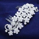 Bling Vintage Style Rhinestone Crystal Wedding Bridal Headpiece Bride Hair Comb