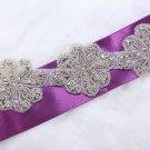 Trims/4pcs/2pcs Flower Rhinestone Crystal Craft Sew Iron Hot Fix Applique