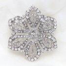Bridal Wedding Rhinestone Crystal Cake Flower Jewelry Corsage Brooch Pin
