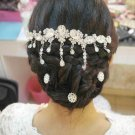 Wedding Bridal Crystal Rhinestone Crown Princess Hair Tiara Headpiece