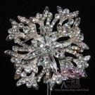Wedding Bridal Rhinestone Crystal Dress Sash Belt Decoration Brooch Pin