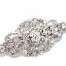 Wedding Bridal Vintage Style Rhinestone Crystal Hair Barrette Clip Headpiece