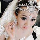 Bridal Wedding Chain Rhinestone Crystal Hair Tiara Tikka Dangle Crown Headpiece