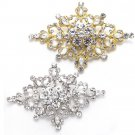 Gold/Silver Tone Rhinestone Crystal Wedding Rhombus Belt Dress Cake Brooch Pin