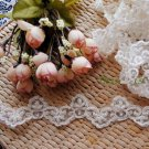 Faux Pearl Sequin White Embroidery Wedding Lace Trim 1 Yard DIY
