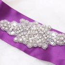 Small Beaded Rhinestone Crystal Faux Pearl Wedding Bridal Garter Craft Applique