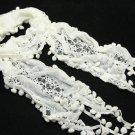 Bridal Wedding Cape Stole Wrap Shrug Shawl Crochet Embroidery Scarf