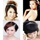 Wedding Bridal Flower Rhinestone Crystal Hair Forehead Tiara Crown Headpiece