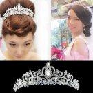 Rhinestone Crystal Wedding Bridal Vintage Victorian Crown Headband Tiara -CA