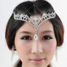 Wedding Bridal Rhinestone Crystal Tiara Headpiece Forehead Crown Hair Chain