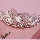 Bridal Wedding Art Deco Rose Rhinestone Crystal Hair Crown Tiara Headpiece