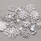 Random Mixed Of 4 PiecesPearl Craft DIY Crystal Rhinestone Bouquet Brooch Pin