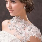 Bridal Wedding Lace Necklace Jewelry Crystal Rhinestone Shoulder Chain Strap -CA