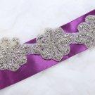13/4/2 Pieces Flower Rhinestone Crystal Beaded Bridal Garter Dress Applique