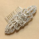 Vintage Style Silver Long Bridal Wedding Rhinestone Crystal Bride Hair Comb