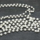 1 Yard 6mm/8mm Faux Plastic Off White Pearl Gold Silver Hook Metal Chain Craft