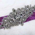 Vintage Bridal Wedding Marquise Rhinestone Crystal Star Sew on Ribbon Applique