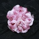 Goth Black Veil Net Purple Rose Wedding Flower Girl Bride Hair Clip - CA