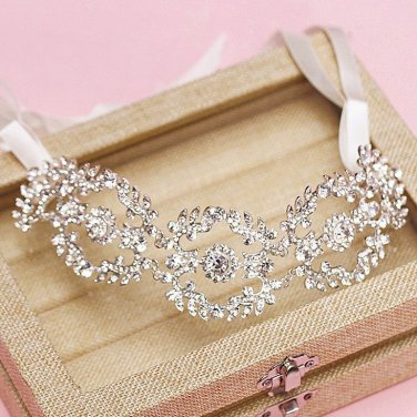 Leaf Vintage Style Wedding Crystal Princess Tiara Headband Accessories