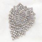 Bridal Wedding Victorian Art Deco Tassel Dangle Rhinestone Crystal Brooch Pin