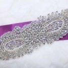 Lot Of 3 Vintage Style Rhinestone Beaded Faux Pearl Wedding Bridal Applique
