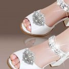 Vintage Glass Aurora Crystal Wedding Bridal Shoe Clips Detach Decoration Pair