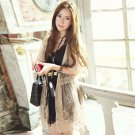 SEXY ELEGANT LACE EMBROIDERY FLORAL LEAF NUDE VINTAGE STYLE OUTWEAR SHRUGS