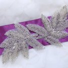 Set Of 2 Bridesmaid Leaves Leaf Acrylic Beaded Wedding Sash Craft Applique DIY