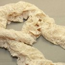 LOT OF 2 YELLOW ELEGANT EMBROIDERY BUTTERFLY FLORAL LACE WRAP SHAWL STOLE SCARF