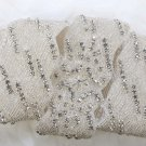 LOT OF 4 CRYSTAL RHINESTONE BEADED WEDDING SASH BELT LONG TRIM APPLIQUE