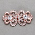 Rose Gold Vintage Style Rhinestone Crystal Wedding Closure Hook and Eye Clasp