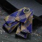 Men's Yellow Blue Vintage Wedding Mens Tuxedo Adjustable Pre-tied Bow Tie Bowtie