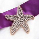 Christmas Beach Sea Star Starfish Crystal Rhinestone Wedding Rose Gold Applique